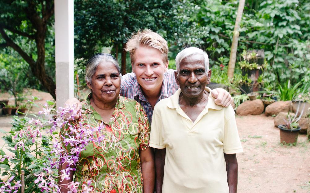 A family photo in Kandy, Sri Lanka.