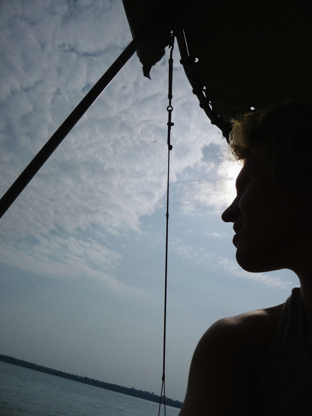 Looking back through the distorted lens of memory. [Somewhere in Lake Victoria. 2010.]