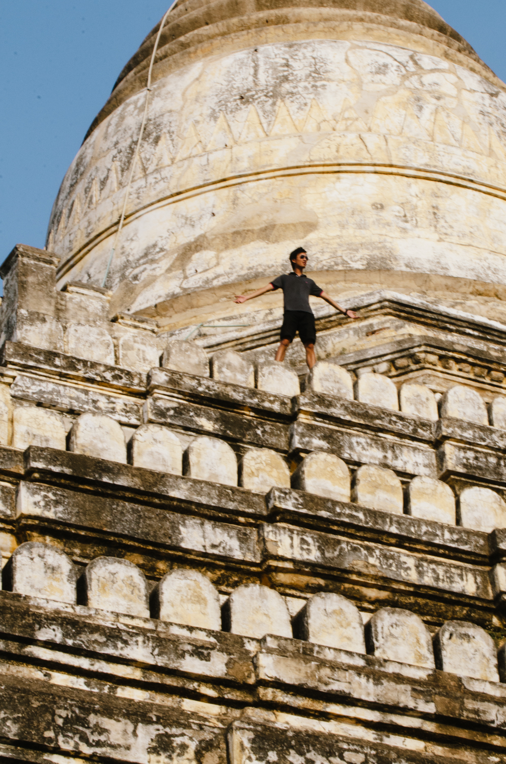 Yet another image of Jason, taken on a temple in Bagan, Myanmar.