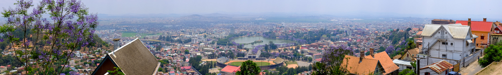 Central Antananarivo's Lac Anosy, as seen from Haute-Ville.