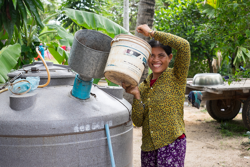 Visit Sin Saroun, an early EWB biodigesters adopter while on assignment for Engineers Without Borders. Tonle Sap, Cambodia. 2015.