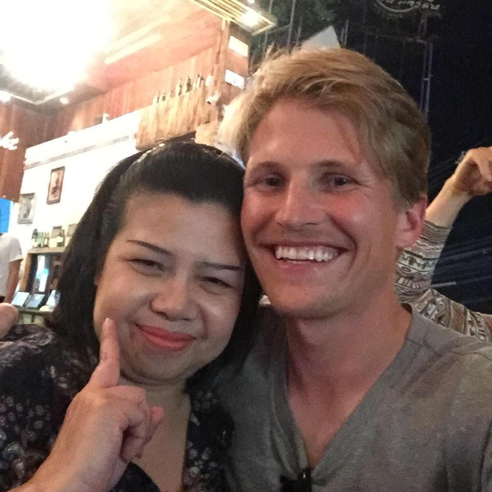 With P'Ning in Bangkok.