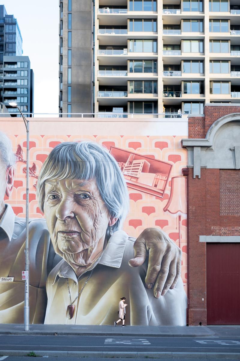 Modern, graffiti choked Melbourne.