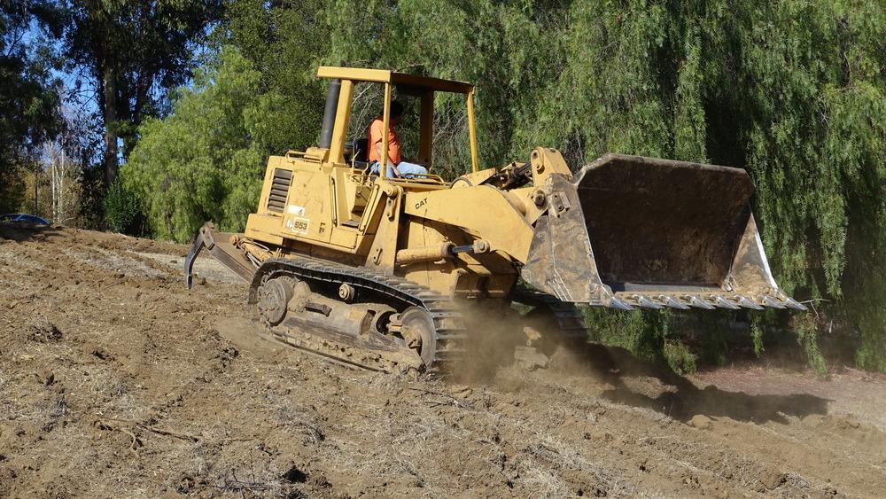 1 Rip the field 2.5' deep to loosen clay soil
