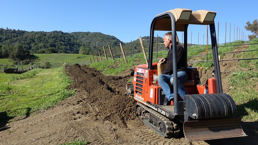 7 Trench ditches for irrigation lines
