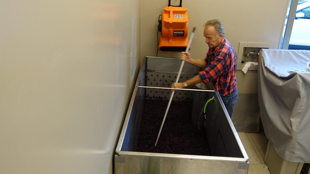 4 Punch down cap during fermentation