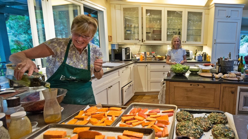 Dinner preparation - Donna & Rosemary