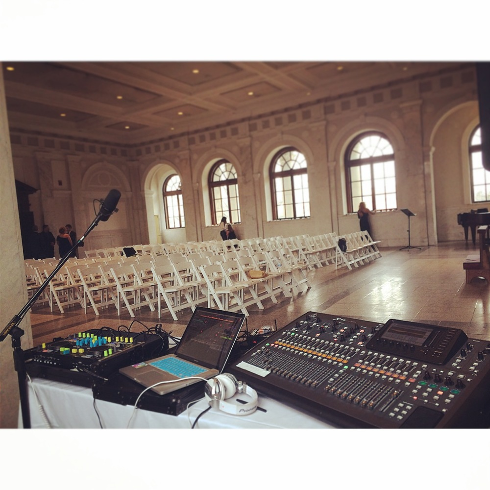 Our DJ Setup at the Historic Decatur Courthouse