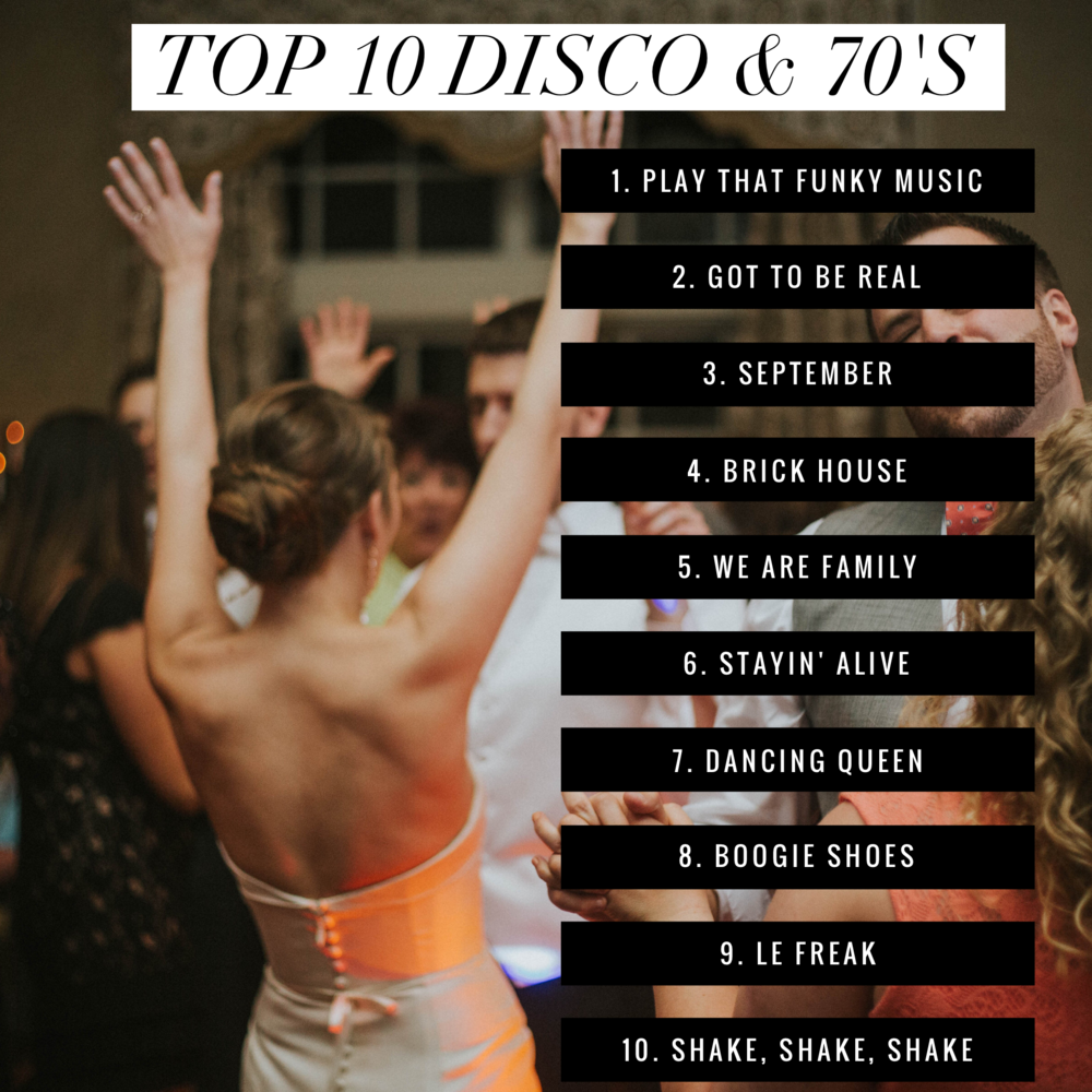 TopDiscoSongsForWeddings