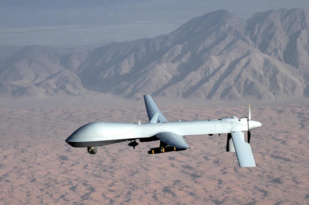 "MQ-1 Predator unmanned aircraft"" by U.S. Air Force photo/Lt Col Leslie Pratt - Licensed under Public Domain via Commons"