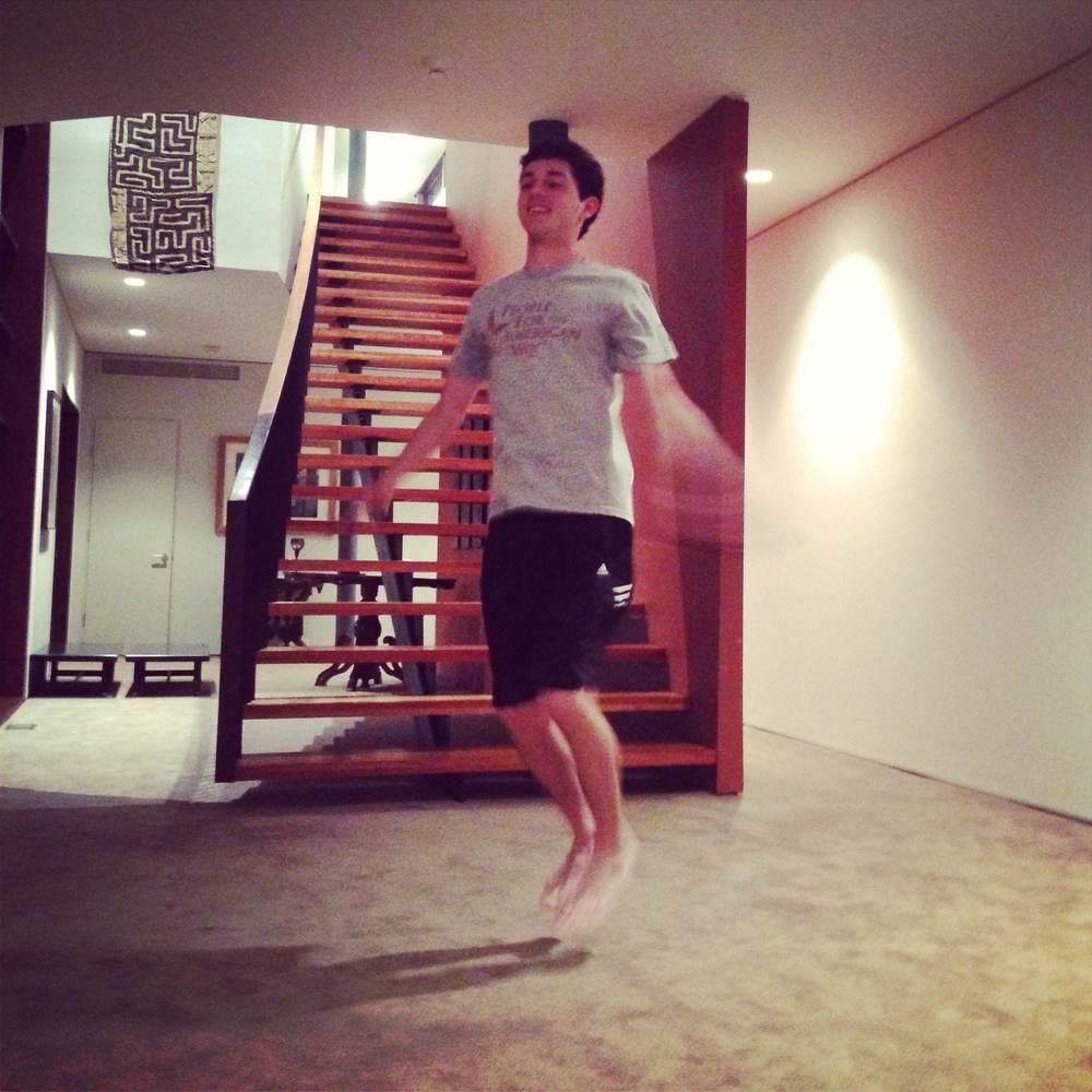 Corey jump roping!