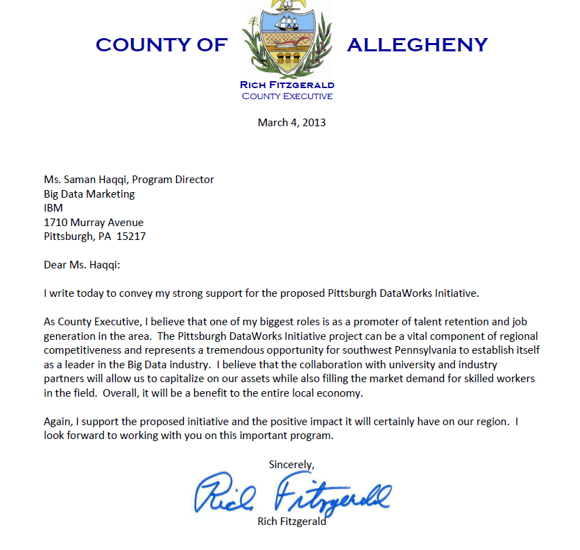 Support letter from ACE Rich Fitzgerald