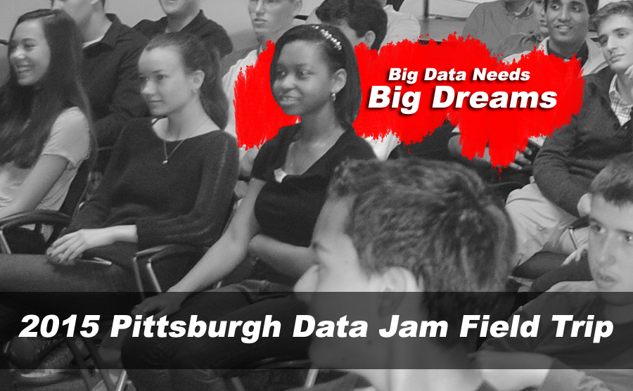 Big Data Career Development: Over a 100 students from Pittsburgh-area high schools, including Avonworth, Bethel Park, The Ellis School, North Allegheny, Springdale, Cornell, and South Fayette, participated in a field trip to University of Pittsburgh Medical Center, Management Science Associates, and IBM in early April 2015 as part of the 2015 Pittsburgh Data Jam program. The goal was for the high school students to learn first hand what it is like to work in a real big data environment. Images in this posting by Matt De Reno.