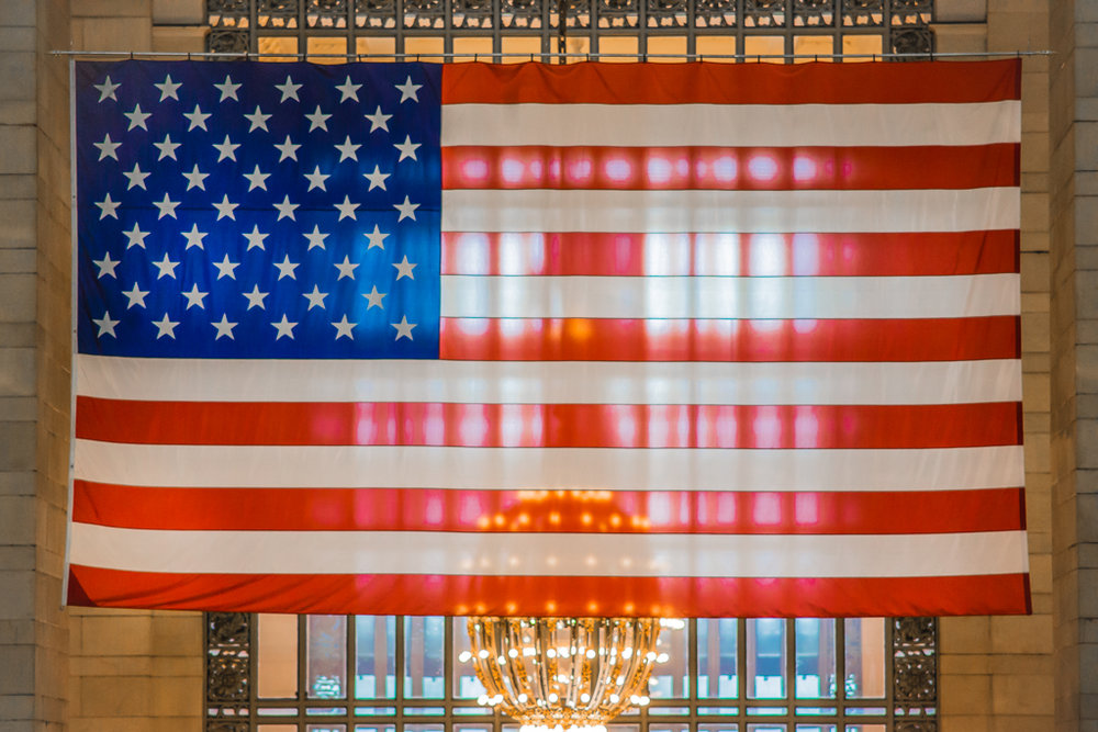 Stars and Stripes at Grand Central Terminal, NYC