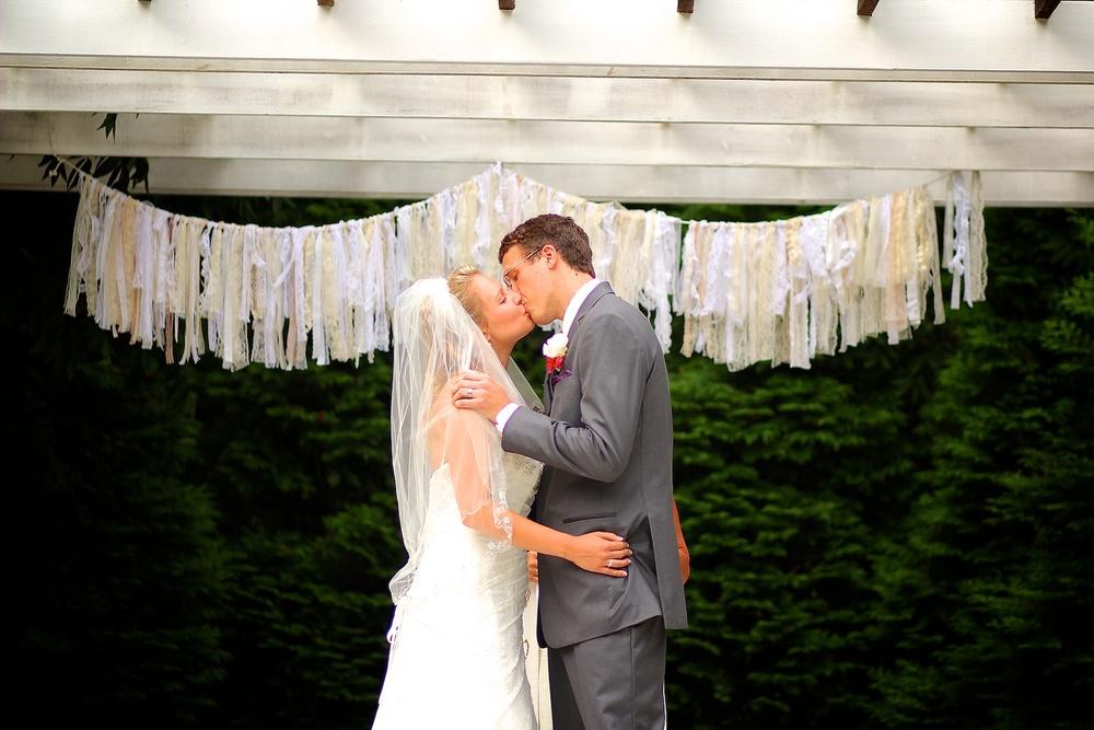 Wedding photography First Kiss