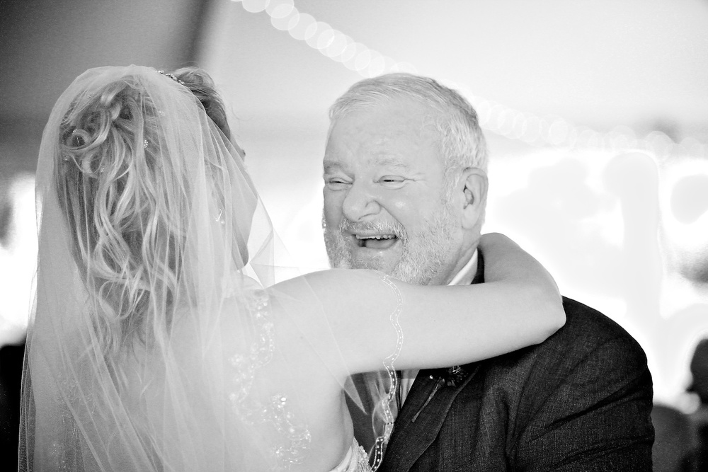 Wedding photography father of the bride dance