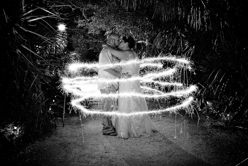 wedding photography sparklers portrait
