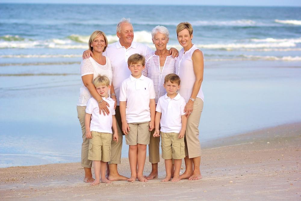 New Smyrna Beach Family Portrait Photo