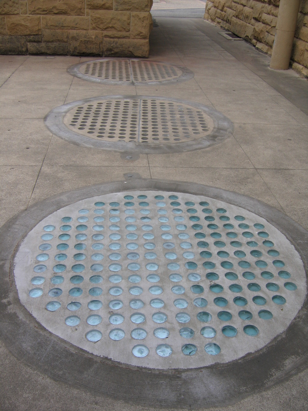 Previous sidewalk light repairs