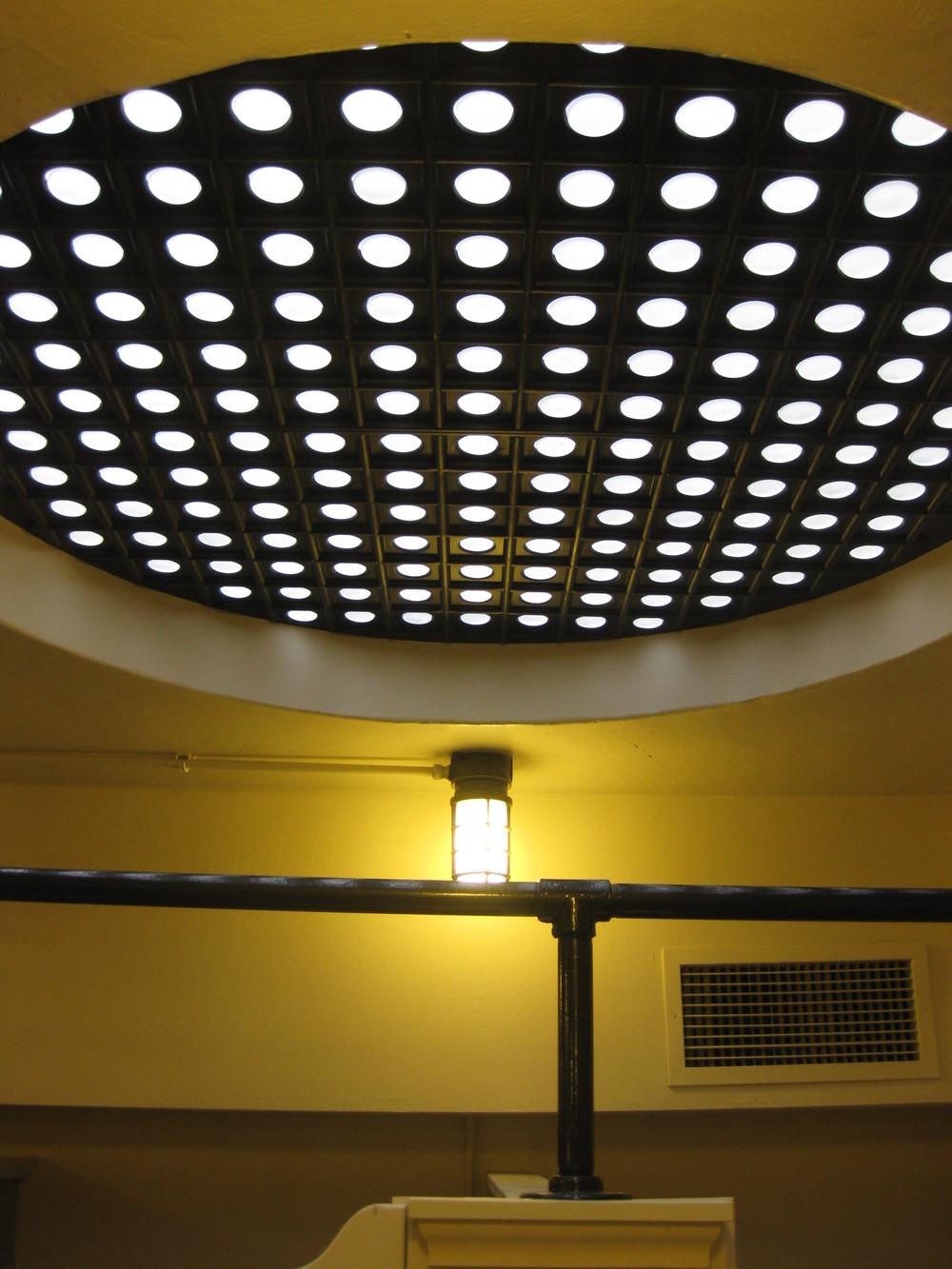 New sidewalk lights from below