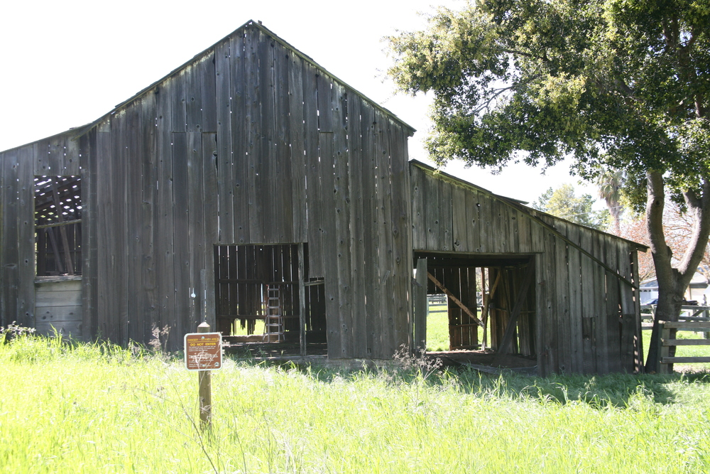 East side of barn before reconstruction
