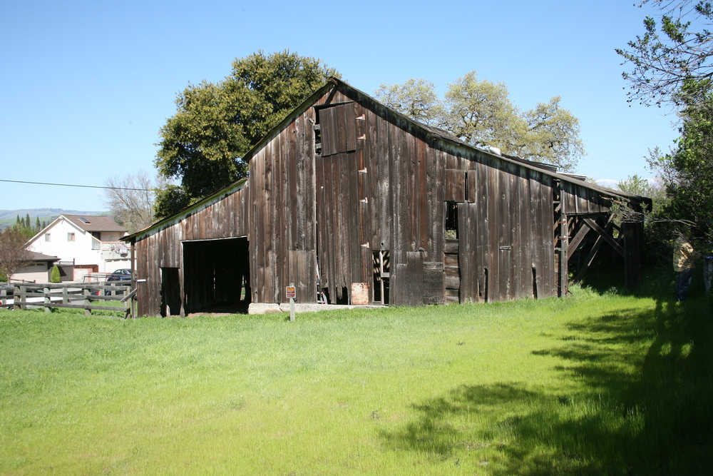 West side of barn before reconstruction