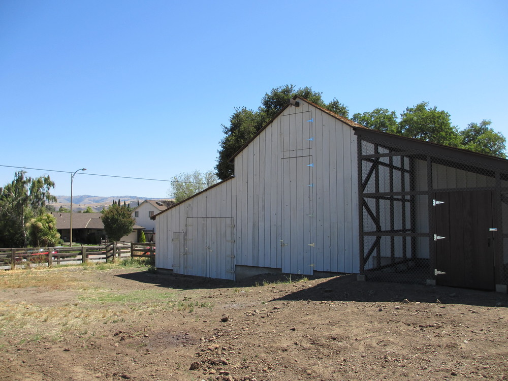 West side of barn after reconstruction