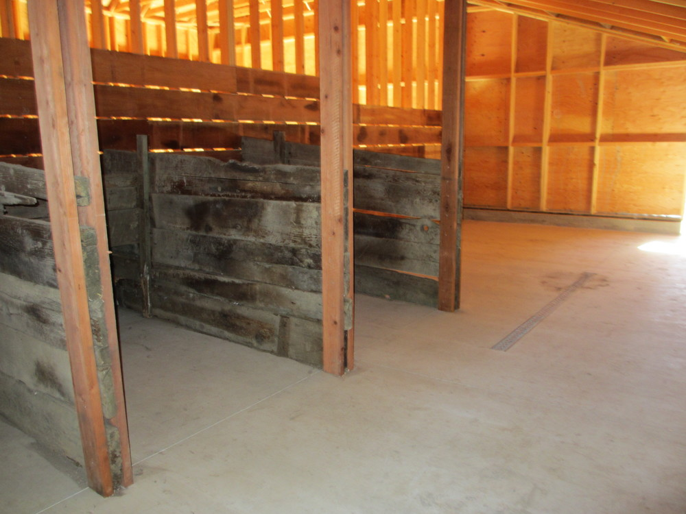 Historic animal stalls - reinstalled in barn