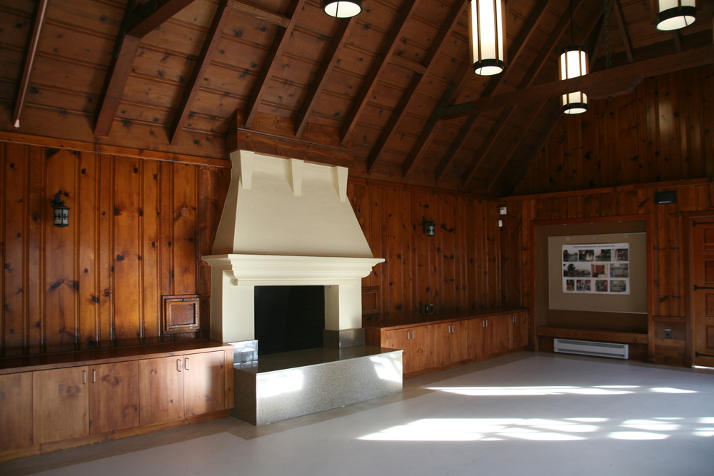 Interior of clubhouse after restoration