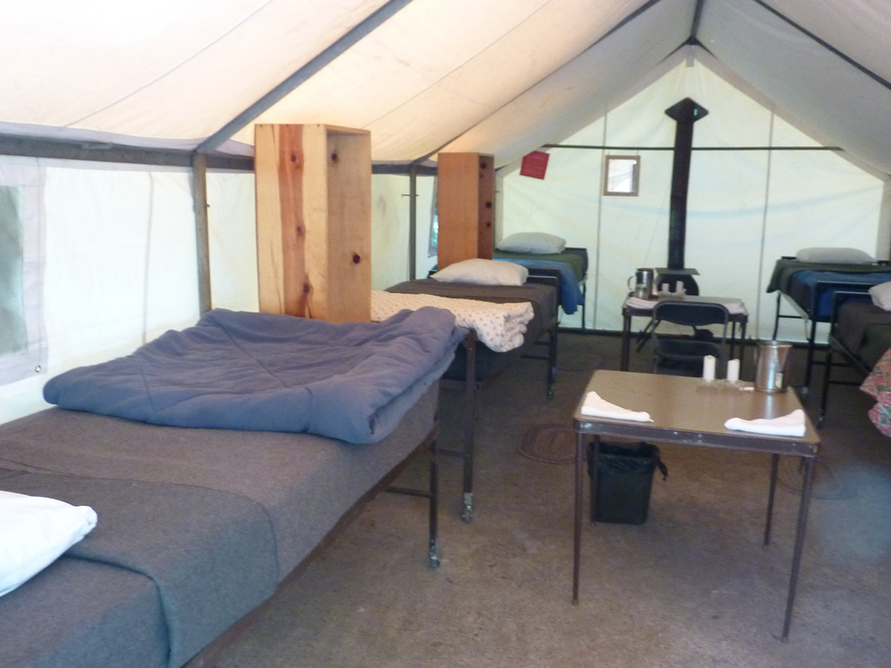Inside of Sleeping tent at May Lake