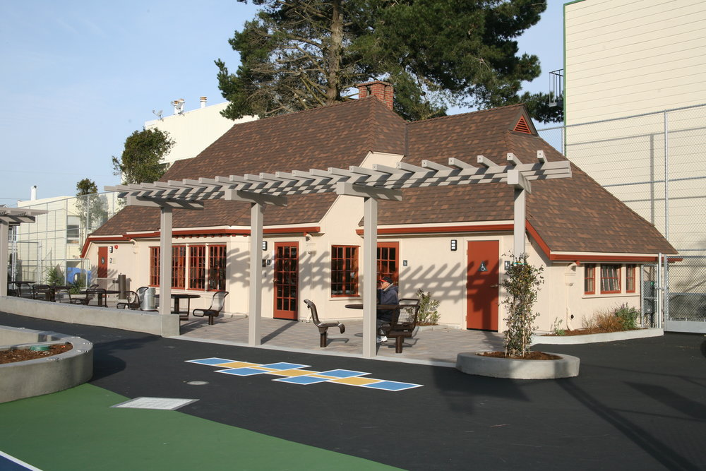 Restored Clubhouse in renovated playground