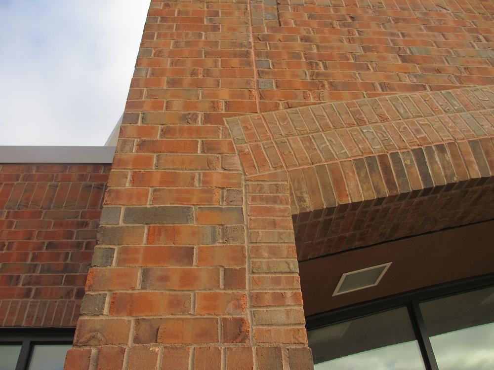 Brick detail at entrance