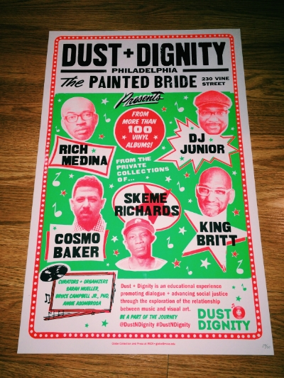 MICA x Dust + Dignity: Philly Collaborative Poster                        We have partnered with Global Beat at MICA for these limited (only 50) screen printed posters for our Dust + Dignity project. Each poster is hand numbered and will look great on your wall.                                                       Order the limited edition poster HERE