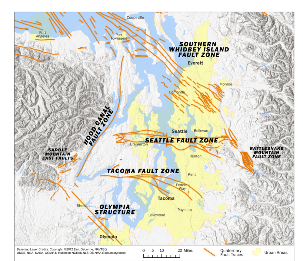 Puget Sound Area Faults