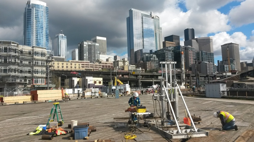 Cone Penetrometer Test on Seattle's Pier 62