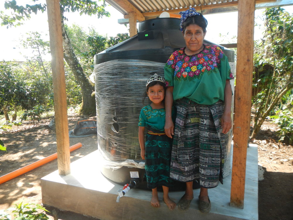 Family and finished water tank