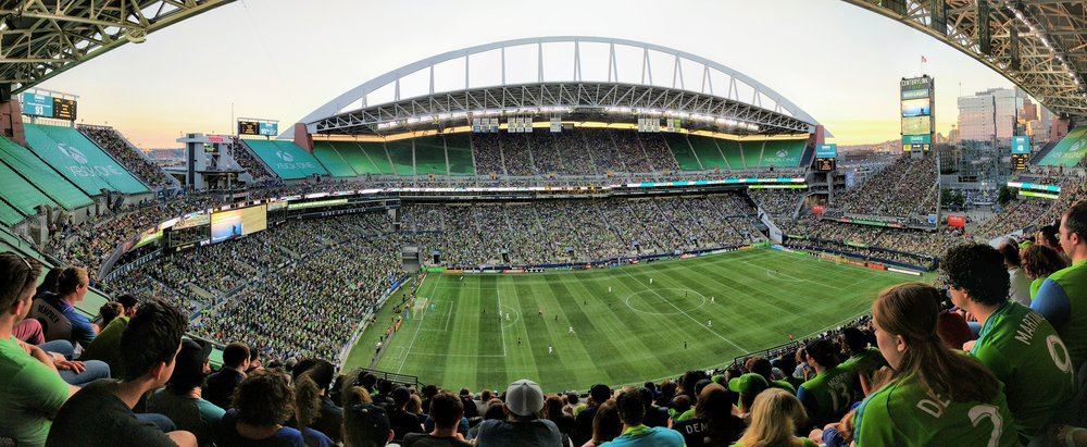 The Sounders at sunse