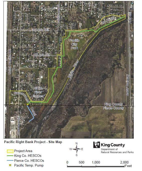 Pacific Right Bank Project, Pacific, WA Map from King County's project website