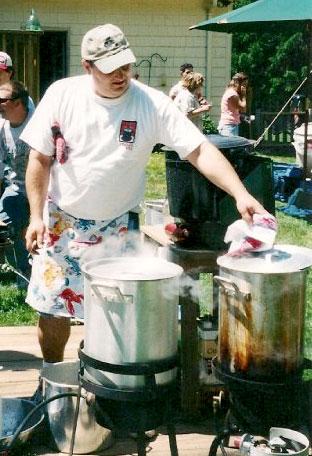 Mike Grattan's clam boil!