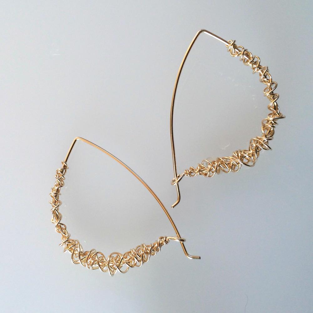 Golden Cocoon Earrings
