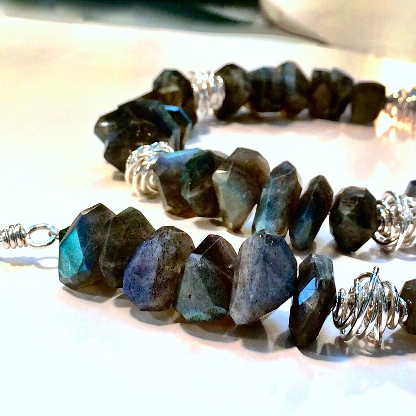 Labradorite and Wind Beads