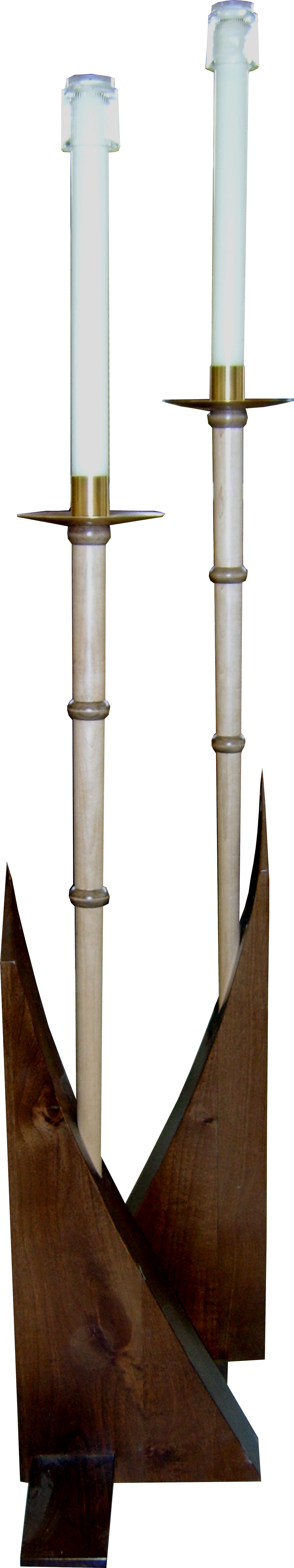 Curved Base Processional Candles