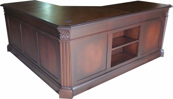 Leather Top Corner Desk
