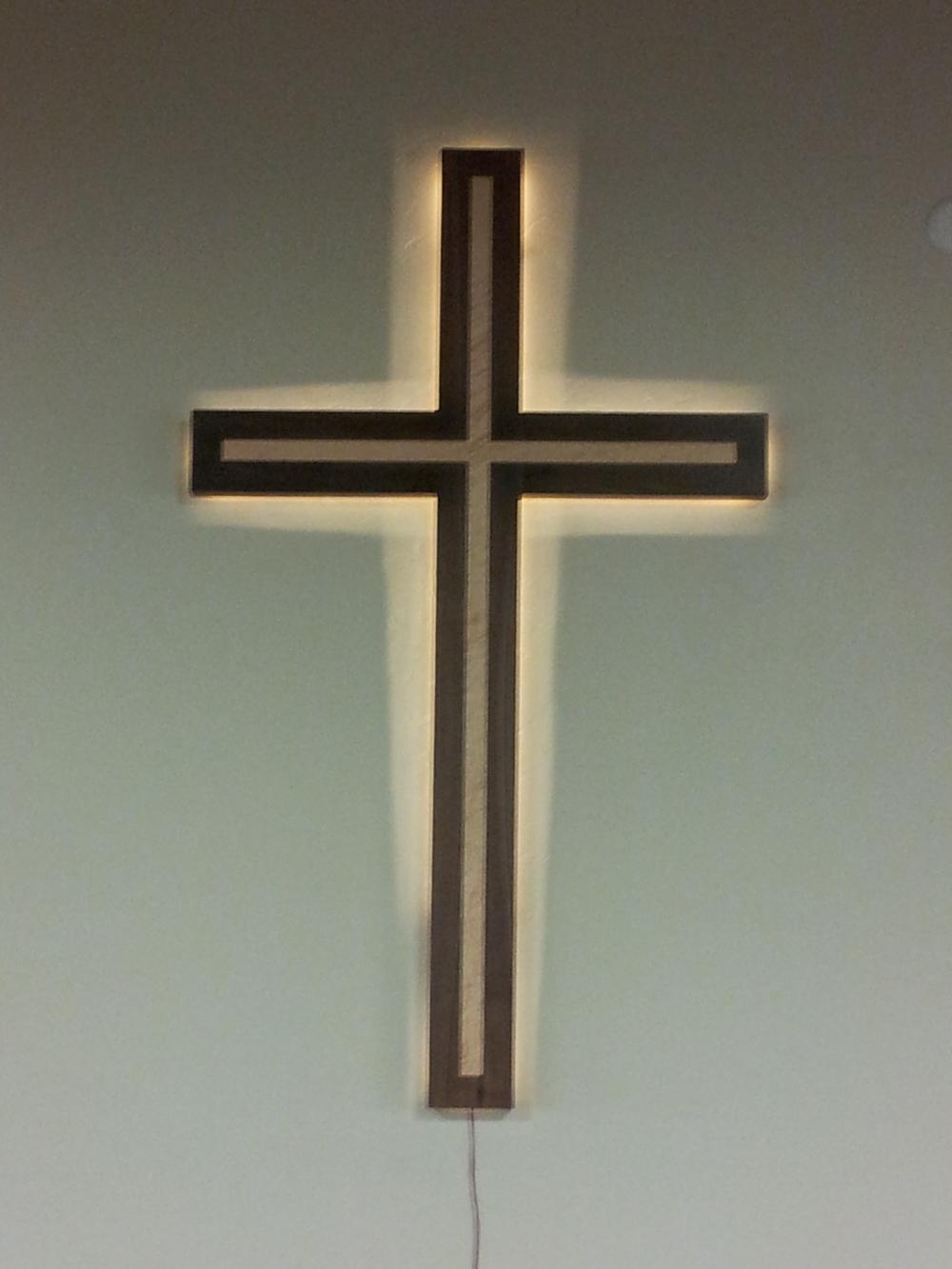 Backlit Sanctuary Cross