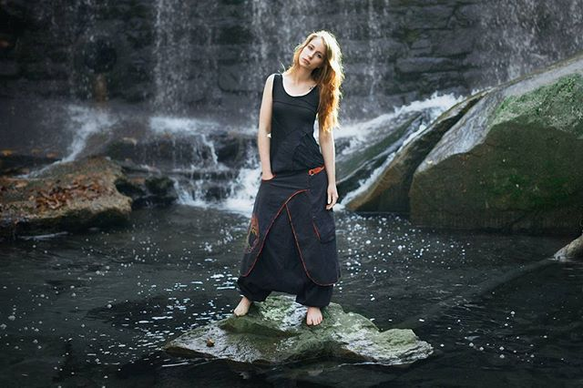 Could not believe the bravery of this girl wading through freezing cold water to get here. The torture my models go through sometimes... 😂 #imsorry #verillas #fashionphotography #fashion #womensfashion #cosplay #modeling #adventure #instafashion #altfashion #alternative #model #photoshoot #canon #photodaily #composition #focus #photooftheday #thaipants #treeoflife #renfaire #rpg #renaissancefair #videogame #celtic #yogapants #pagan #fantasy