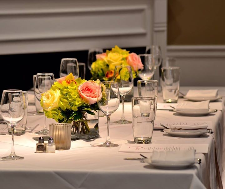 A beautiful table setup with fresh flowers