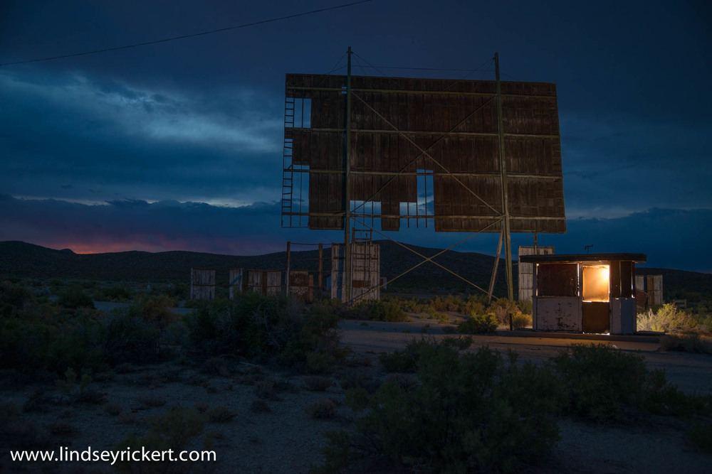 Abandoned theatre in Yerington, NV. This was the first stop on our trip and the same theatre with the rainbow images I posted earlier.