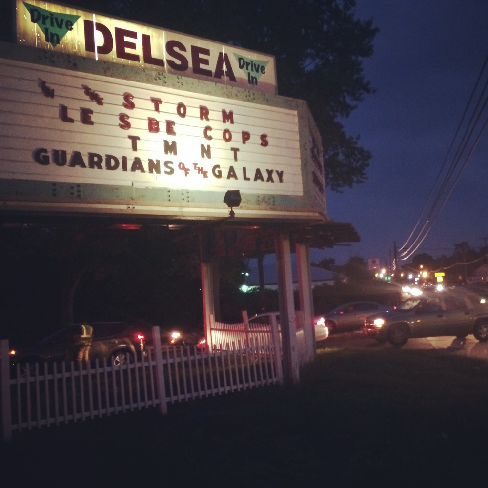 I did get some work in over the week. I drove down to Vineland, New Jersey to visit the Delsea Drive-In. Doc the owner was very sweet. I can't even explain the line of cars that were waiting to get into this place. It was incredible to see a theatre thriving and so many people supporting it. It really reminded me of my childhood at the drive-in. Added bonus,  on my way home the following day, I got to see two of my aunts that I haven't seen in 14 and 20 years. It was great getting to grab breakfast with them and catch up a bit.