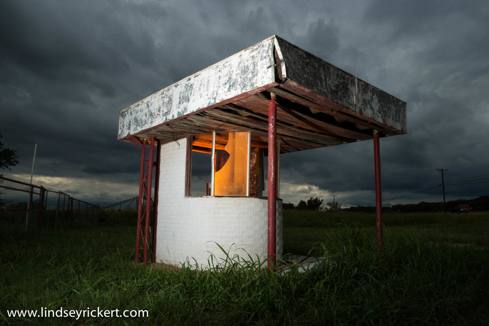 Abandoned ticket booth in Jacksboro, Texas
