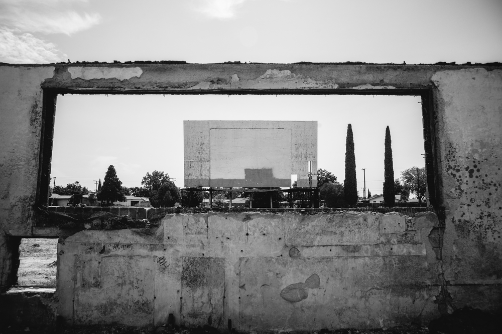 Abandoned Drive-In Theatre, Porterville, CA